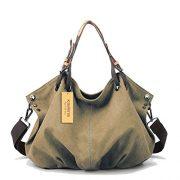 Kaylena-Womens-Water-Resistant-Khaki-Canvas-Shoulder-Bag2way-0